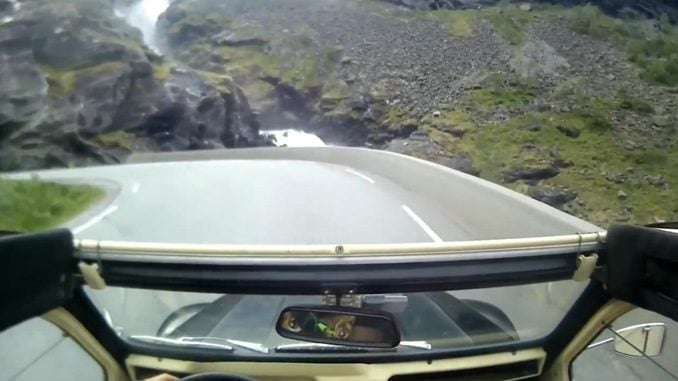 Trollstigen, Norway in a Citroen 2CV